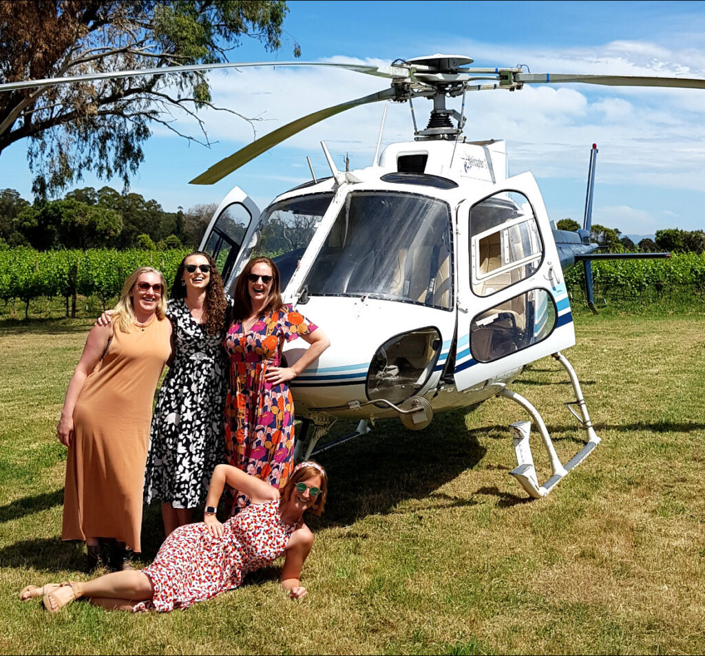 helicopter wine tour yarra valley